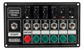 QuickCar Racing Products - QuickCar Extreme Fused Ignition Control Panel w/Lights