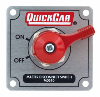 QuickCar Racing Products - QuickCar Master Disconnect Switch - Solid Silver Plate w/ Alternator Posts
