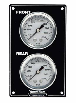 QuickCar Racing Products - QuickCar Mini Brake Bias Gauge Panel - Vertical - Black