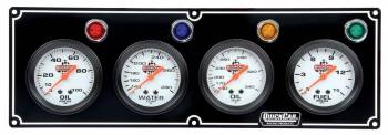 QuickCar Racing Products - QuickCar 4 Gauge Panel Assembly w/ Warning Lights - OP/WT/OT/FP