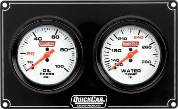 QuickCar Racing Products - QuickCar Extreme 2 Gauge Dash Panel - WT/OP