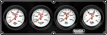 QuickCar Racing Products - QuickCar Extreme 4 Gauge Dash Panel - WT/OP/OT/FP