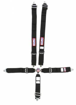 "RJS Racing Equipment - RJS 5-Point Quick Release Camlock Harness System - Black - Individual Shoulder Harness - Bolt-In - 3"" Anti-Submarine Belt"