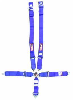 "RJS Racing Equipment - RJS 5-Point Quick Release Camlock Harness System - Blue - Individual Shoulder Harness - Wrap Around - 3"" Anti-Submarine Belt"