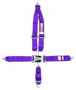 RJS Racing Equipment - RJS 5-Point Roll Bar Mount Harness System - Purple - 3 Anti-Submarine Belt