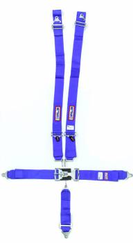 "RJS Racing Equipment - RJS 5-Point Restraint System - Individual Shoulder Harness - Wrap Around Mount - 3"" Anti-Sub - Blue"
