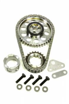 Rollmaster - ROLLMASTER-ROMAC Red Series Timing Chain Set Double Roller Keyway Adjustable Needle Bearing - Billet Steel