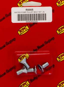 "Racing Power - Racing Power 5/16-24"" Thread Water Pump Pulley Bolt 0.625"" Long Tapered Allen Head Steel - Zinc Oxide"