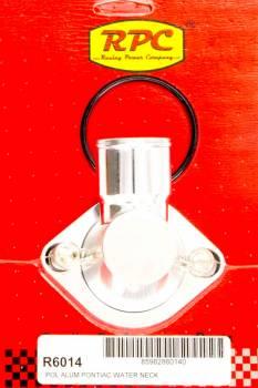 "Racing Power - Racing Power 15 Degree Water Neck 1-1/2"" ID Hose Swivels O-Ring - Aluminum"