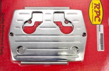 Racing Power - Racing Power Aluminum Battery Tray Chrome Optima Blue/Red/Yellow Top Batteries Type 34/78 - Each