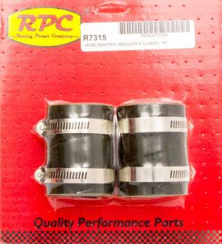 "Racing Power - Racing Power 2"" to 1-1/2"" Radiator Hose Adapter Rubber - Black"