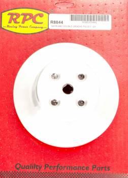 "Racing Power - Racing Power V-Belt Water Pump Pulley 2 Groove 6.600"" Diameter Aluminum - Satin"