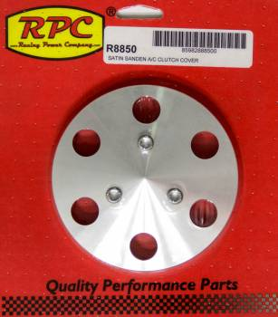 Racing Power - Racing Power Stainless Hardware Included Air Conditioner Clutch Cover Aluminum Polished Sanden 508 Compressors - Kit