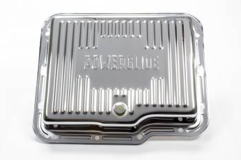 Racing Power - Racing Power Stock Depth Transmission Pan Finned Steel Chrome - Powerglide