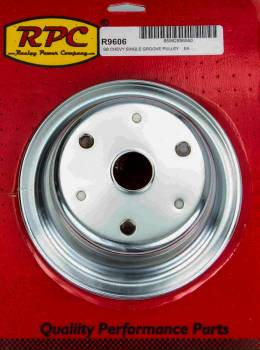 Racing Power - Racing Power Co-Packaged Chrome Steel Crankshaft Pulley 1Groove Long WP