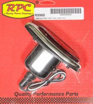 Racing Power - Racing Power LED Tail Lights Steel Bezel Chrome Ford 1938-39 - Each