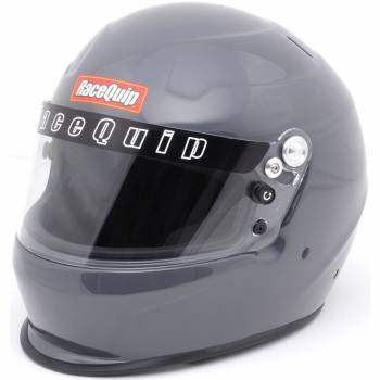 RaceQuip - RaceQuip Full Face Helmet SFI 24.1/Snell SA 2015 Head and Neck Support Ready Gloss Steel - Youth 1 Size All