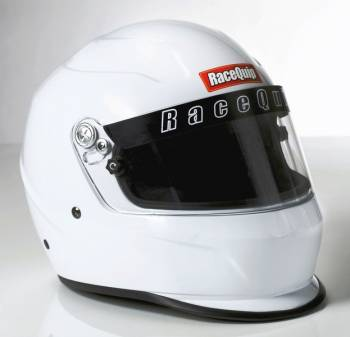 RaceQuip - RaceQuip PRO15 Helmet Full Face Snell SA 2015 Head and Neck Support Ready - Gloss White