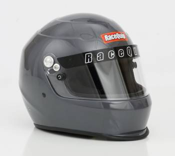 RaceQuip - RaceQuip PRO15 Helmet Full Face Snell SA 2015 Head and Neck Support Ready - Gloss Silver - 2X-Large
