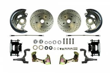 Right Stuff Detailing - Right Stuff Detailing Disc Brake Conversion Drill/Slot Black Pc. & SS Hoses