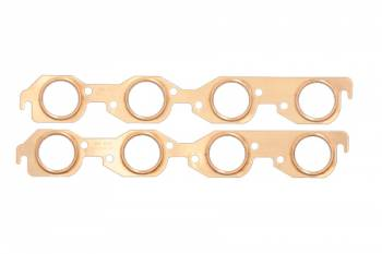 SCE Gaskets - SCE BB Chevy Copper Exhaust Gaskets 2.00 Round Port