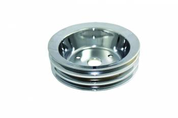 Specialty Chrome - Specialty Chrome SBC SWP 3 Groove Crank Pulley Chrome