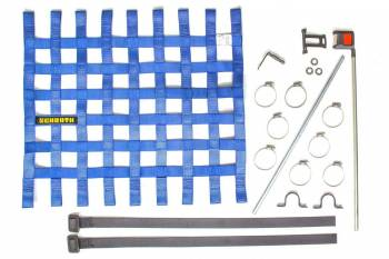 "Schroth Racing - Schroth 20"" x 18.5"" Window Net Kit w/Mounting Hardware - Blue"