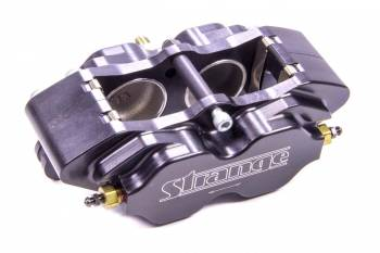 Strange Engineering - Strange Engineering Driver Side Brake Caliper Pro Race 4 Piston Billet Aluminum - Black Anodize