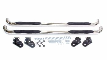 "Tuff-Bar - Tuff-Bar 3"" OD Step Bars Mount Kit Included Stainless Polished - Crew Cab"
