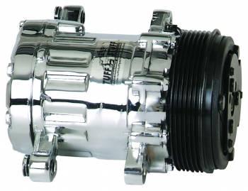 Tuff Stuff Performance - Tuff Stuff SD7 Peanut Compressor R134A Chrome Serpentine