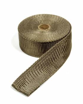 """Thermo-Tec - Thermo-Tec 2"""" Wide Exhaust Wrap 50 ft Roll Woven Fiberglass Carbon Fiber Look - Each"""