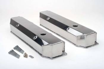 Hamburger's Performance Products - Hamburger's BB Chrysler Fabricated Aluminum Valve Covers Brushed