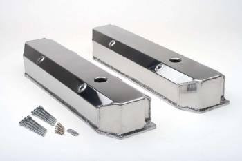 Hamburger's Performance Products - Hamburger's BB Chrysler Fabricated Aluminum Valve Covers Brushed
