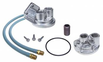 Trans-Dapt Performance - Trans-Dapt Single Oil Filter Relocation Kit - 0.75-16 Threads