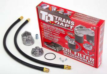 Trans-Dapt Performance - Trans-Dapt Single Oil Filter Relocation Kit - 20mm x 1.5 Threads