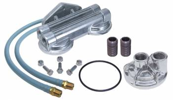Trans-Dapt Performance - Trans-Dapt Dual Oil Filter Relocation Kit - 0.75-16 Threads