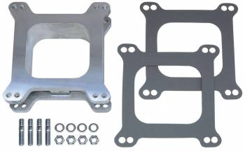 "Trans-Dapt Performance - Trans-Dapt Aluminum Carburetor Spacer - Holley/AFB 4 BBL - 2"" Tall - Open Center"