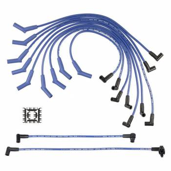 Accel - ACCEL Super Stock Spiral Spark Plug Wire Set - Custom Fit - 8mm - Spiral Core - Blue