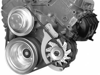 Alan Grove Components - Alan Grove Components Alternator Bracket - BB Chevy - Long Water Pump - LH - Low Mount