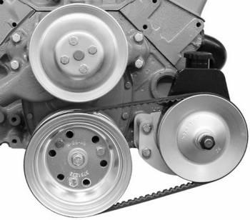 Alan Grove Components - Alan Grove Components Power Steering Pump Mount - SB Chevy - Long / Short Water Pump - LH