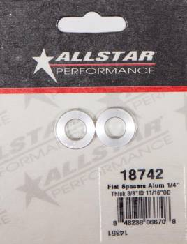 "Allstar Performance - Allstar Performance Aluminum Flat Spacer 3/8"" I.D., 1/4"" Long"