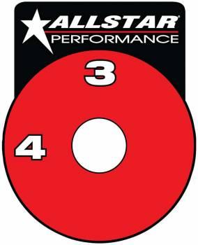 Allstar Performance - Allstar Performance RF Brake Shut-Off Valve Decal
