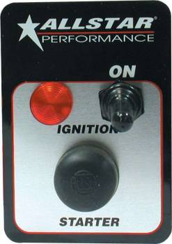 Allstar Performance - Allstar Performance Standard Ignition Switch Panel w/ Pilot Light