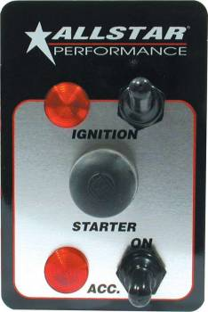 Allstar Performance - Allstar Performance Standard Ignition Panel & Accessory Switch w/ Pilot Lights