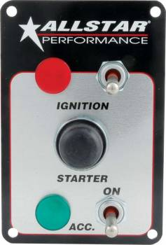 Allstar Performance - Allstar Performance Waterproof Switch Panel - Two Switches w/ Light