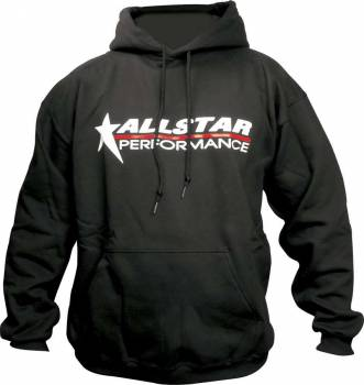 Allstar Performance - Allstar Performance Hooded Sweatshirt - Black - Small