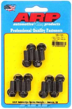 "ARP - ARP Header Bolt Kit - Black Oxide - SB Chevy - 3/8"" Diameter, .750"" Under Head Length - Hex Head - (12 Pack)"