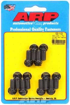 "ARP - ARP Header Bolt Kit - Drilled - Black Oxide - SB Chevy - 3/8"" Diameter, .750"" Under Head Length - Hex Head - (12 Pack)"