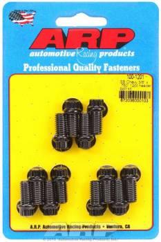 """ARP - ARP Header Bolt Kit - Black Oxide - SB Chevy - 3/8"""" Diameter, .750"""" Under Head Length - 12 Pt. Head - (12 Pack)"""