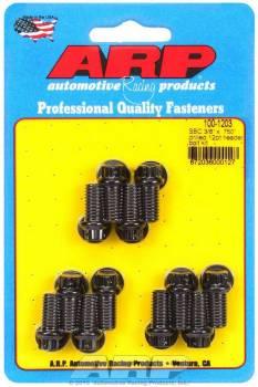 """ARP - ARP Header Bolt Kit - Drilled - Black Oxide - SB Chevy - 3/8"""" Diameter, .750"""" Under Head Length - 12 Pt. Head - (12 Pack)"""